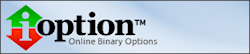iOption binaire opties broker review logo